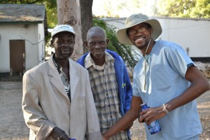 Frank with the people of Mwandi